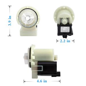 Hosom 8181684 Washer Drain Pump Motor Replacement Part Compatible with Whirlpool Maytag Washing Machine OEM 285998 8182819 | Replaces 285998 8182819 280187 8182821 AP3953640 1200164 280187VP